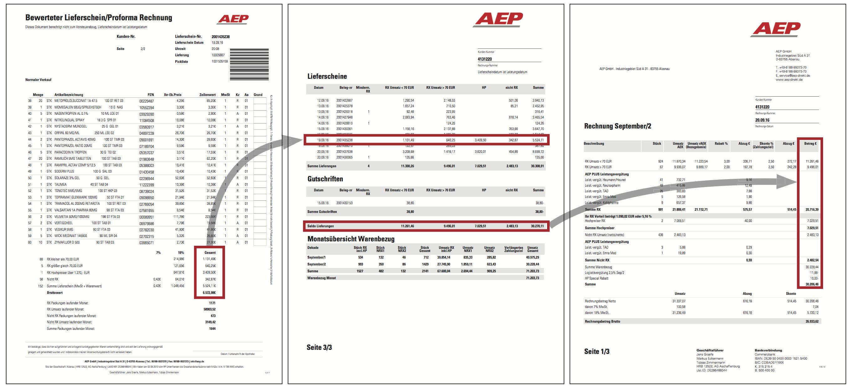Einfache Rechnungen : AEP